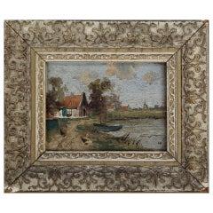 Miniature Continental Landscape Painting