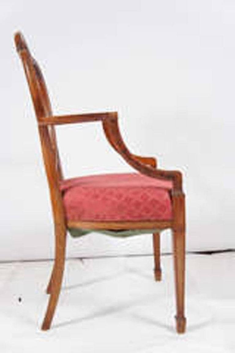 Hepplewhite Armchair In Good Condition For Sale In Great Barrington, MA