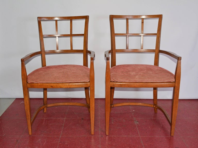 American Four Art Deco Dining Chairs For Sale