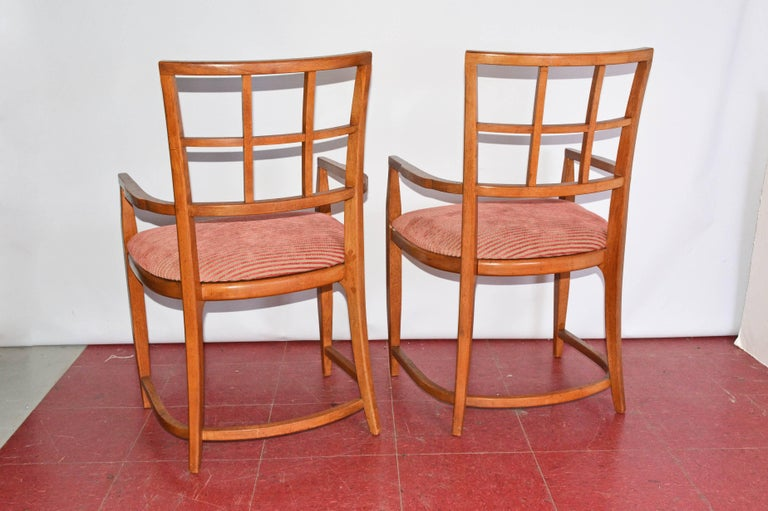 Machine-Made Four Art Deco Dining Chairs For Sale