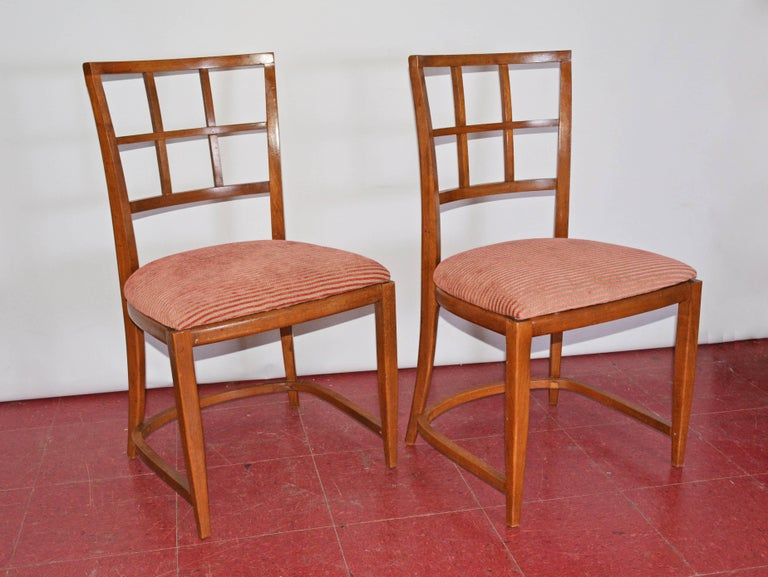 Four Art Deco Dining Chairs In Good Condition For Sale In Great Barrington, MA