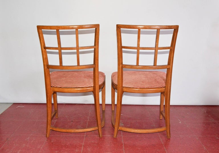20th Century Four Art Deco Dining Chairs For Sale