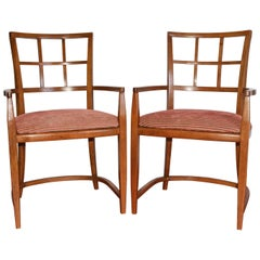 Art Deco Dining Armchairs, Pair