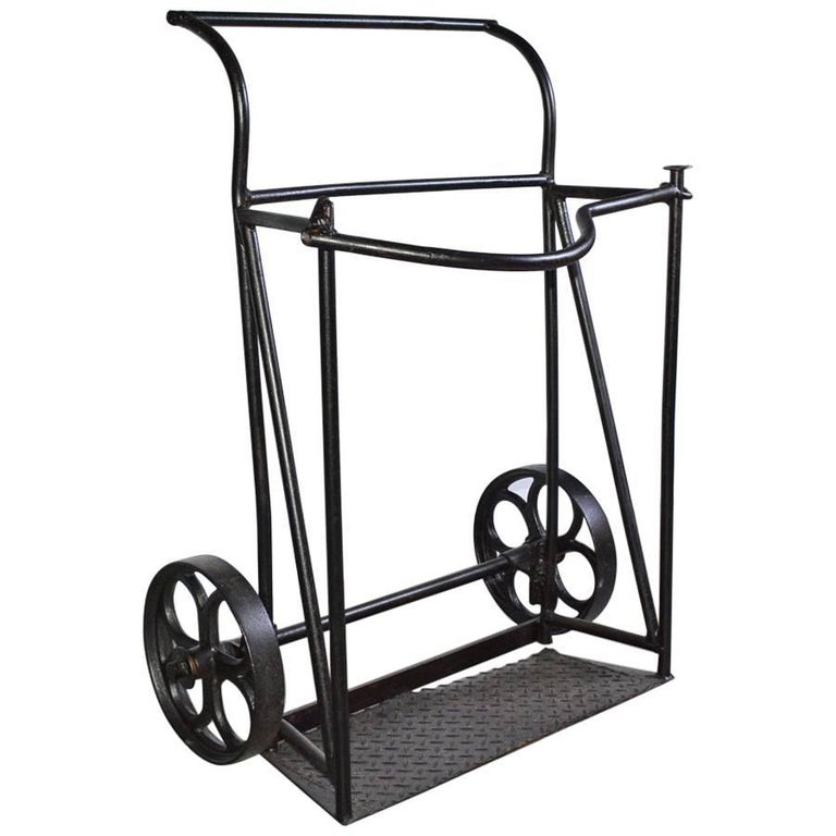 Vintage Industrial Iron Cart For Sale