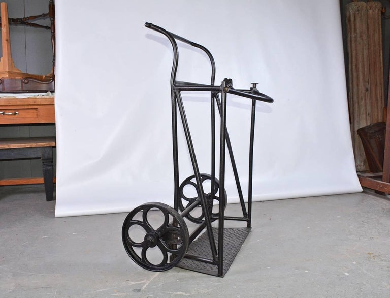 Other Vintage Industrial Iron Cart For Sale