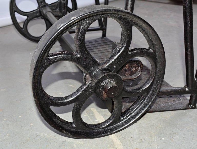 American Vintage Industrial Iron Cart For Sale