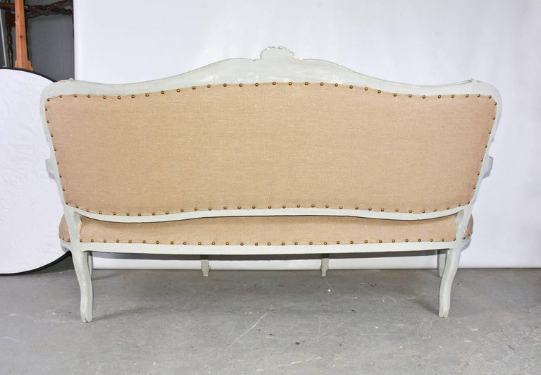 19th Century Louis XV Settee In Good Condition For Sale In Great Barrington, MA