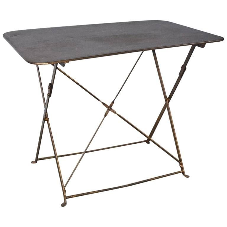 French Folding Metal Garden Table