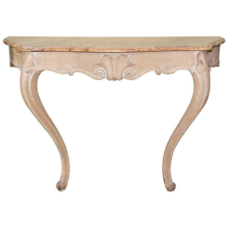 Antique Venetian Rococo Painted Console Table  For Sale
