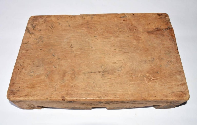 Hand-Crafted Chinese Wooden Block For Sale