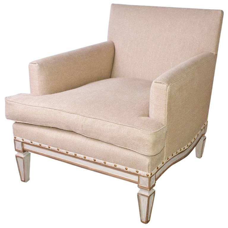 Vintage Neoclassical Club Chair For Sale