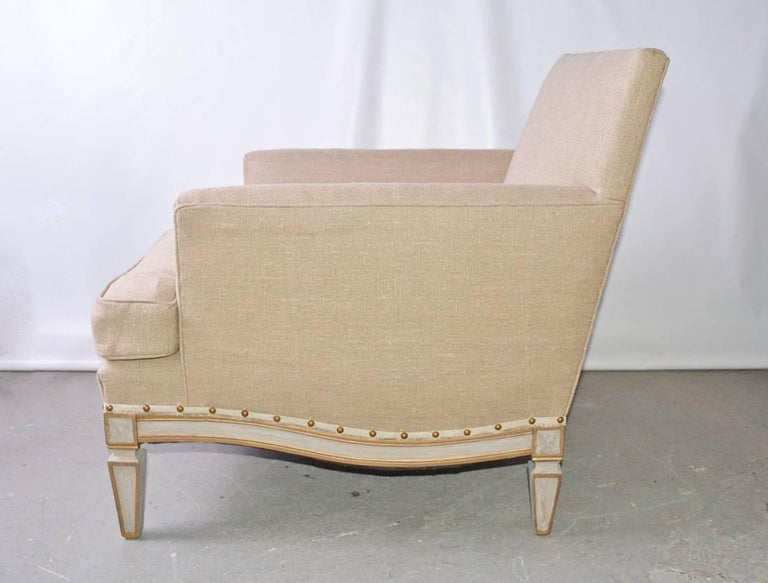 Machine-Made Vintage Neoclassical Club Chair For Sale