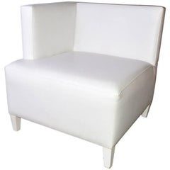 Contemporary Single Arm Corner Club Chair