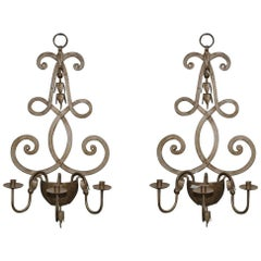 Large Pair of Rococo Style Candle Sconce Wall Decorations