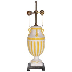 Neoclassical Style Italian Ceramic Glazed Table Lamp