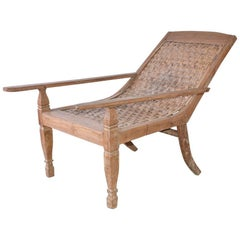 Anglo-Indian Teak Plantation Chair