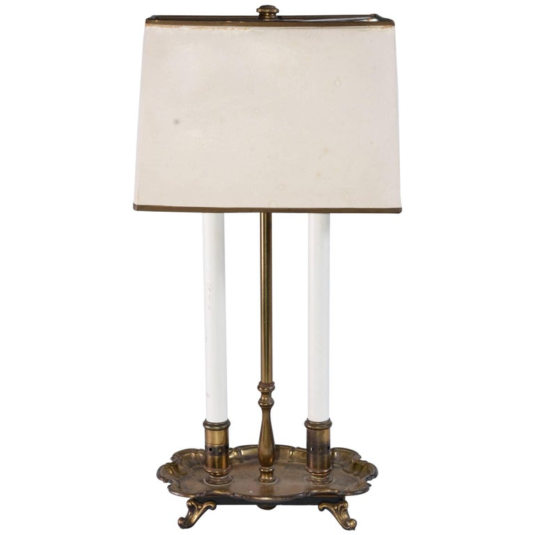 Vintage Brass Bouillotte Table/Desk Lamp
