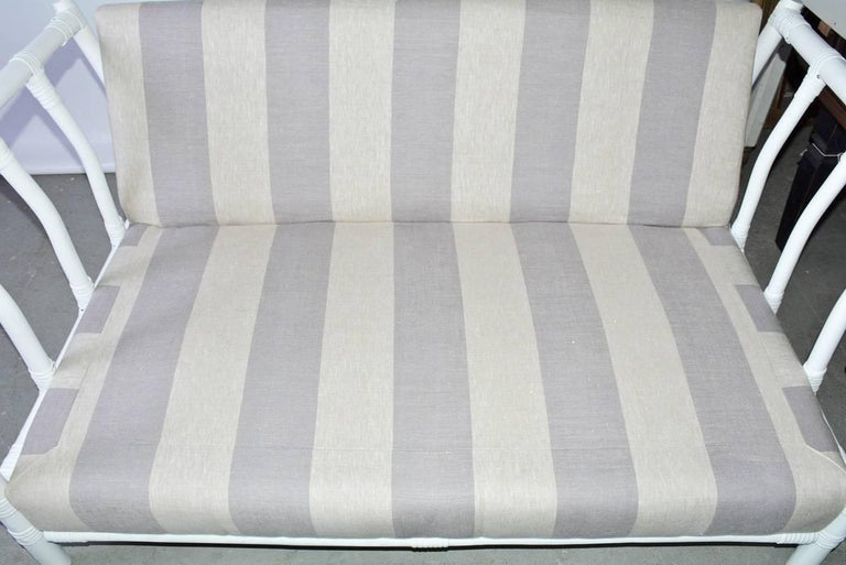Midcentury Porch or Sun Room Upholstered Loveseat In Excellent Condition For Sale In Great Barrington, MA