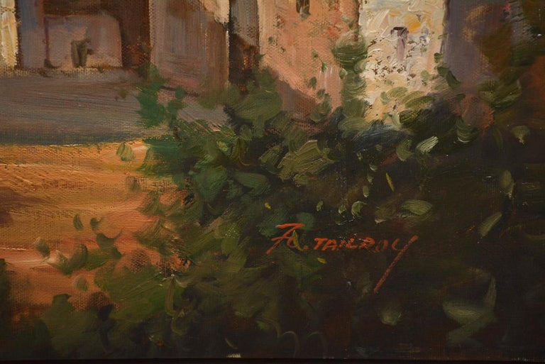 20th Century Vintage Oil on canvas Painting by F. Tailroy of Italian Landscape For Sale