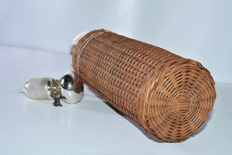 Hand-Crafted Mercury Glass Thermos Bottle For Sale