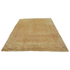Vintage Persian Hand-Knotted Wool Carpet