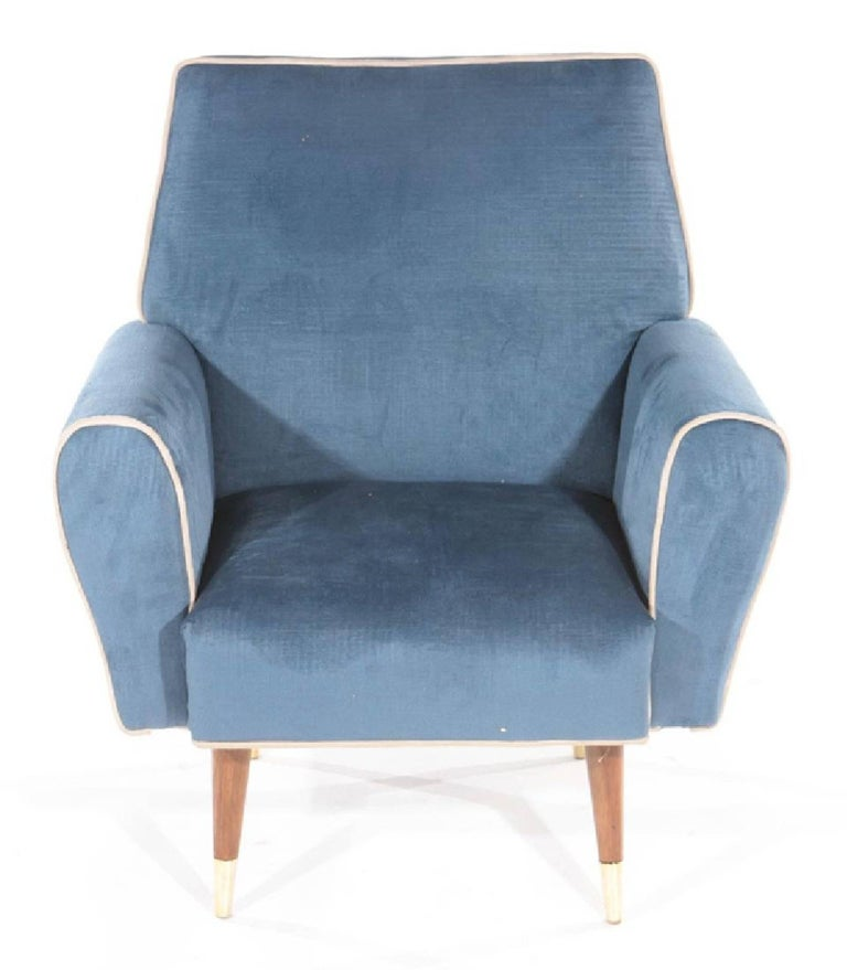American Pair of Mid-Century Modern Club Chairs For Sale