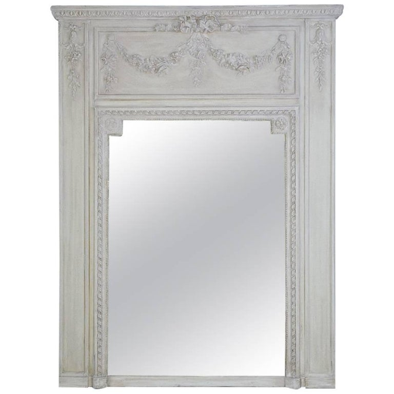 Antique French Neoclassical Mantel Mirror For Sale