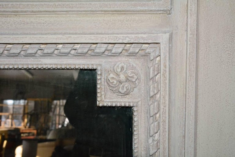 Louis XVI Antique French Neoclassical Mantel Mirror For Sale