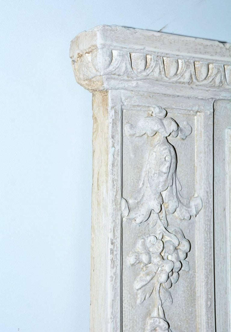 Antique French Neoclassical Mantel Mirror In Good Condition For Sale In Great Barrington, MA