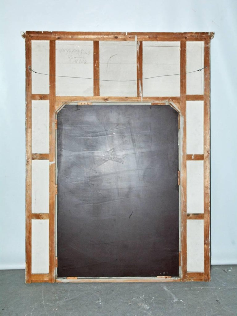 Antique French Neoclassical Mantel Mirror For Sale 2