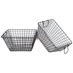 Vintage Wire Baskets with Handles, Sold Singly