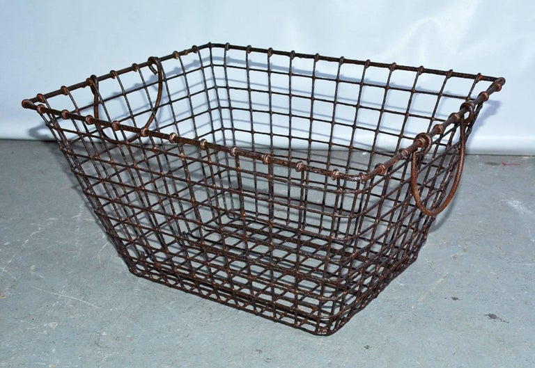 Other Vintage Wire Baskets with Handles, Sold Singly For Sale