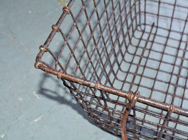 Metalwork Vintage Wire Baskets with Handles, Sold Singly For Sale