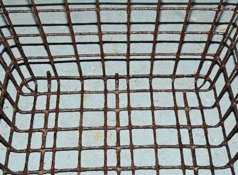 19th Century Vintage Wire Baskets with Handles, Sold Singly For Sale