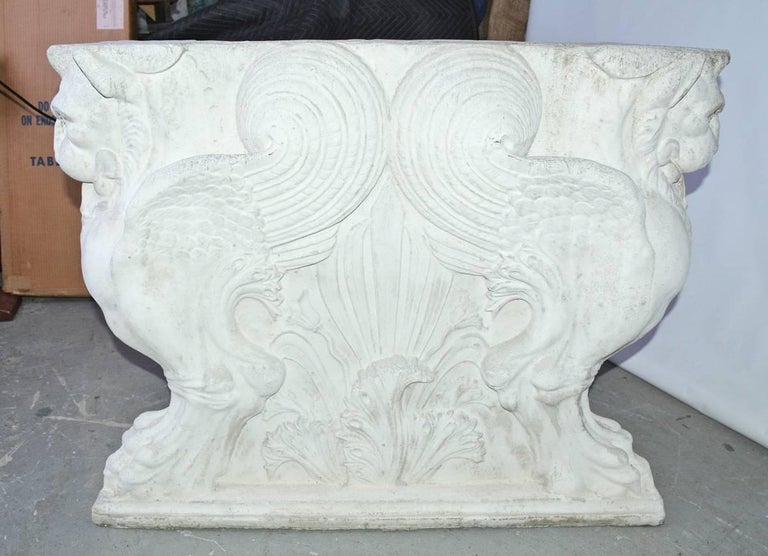 Contemporary Pair of Italian Neoclassical Style Griffons Table Pedestals For Sale