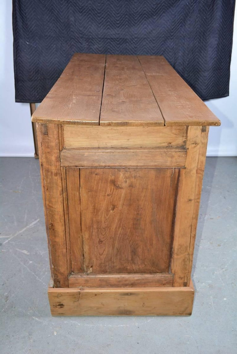 Large Antique Pine Sideboard or Cabinet For Sale 1