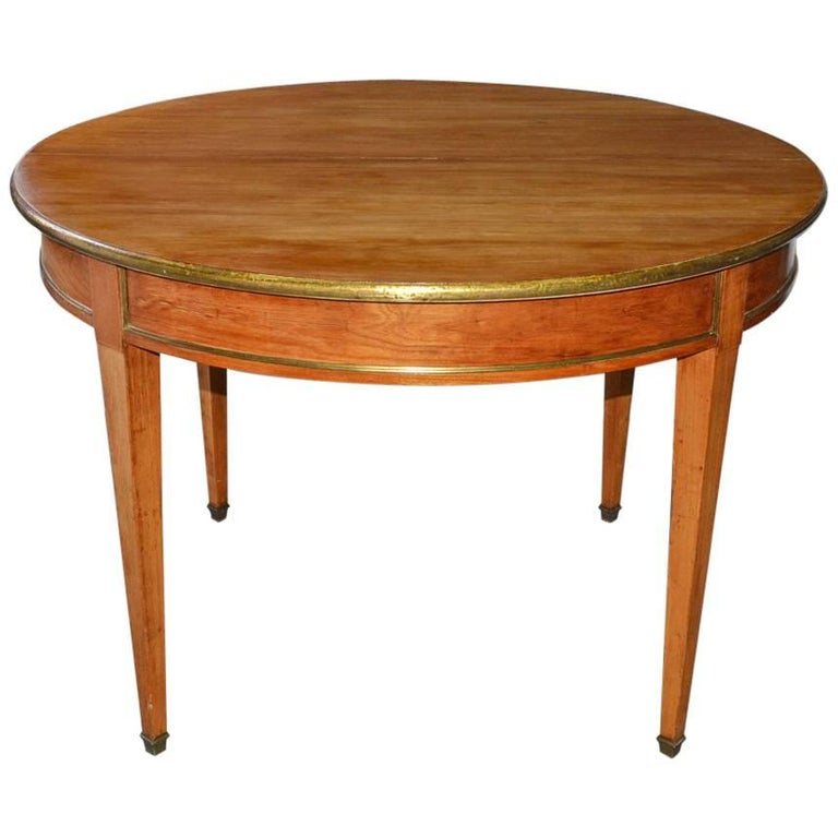 Napoleon III Round Occasional Table with Brass Trim For Sale