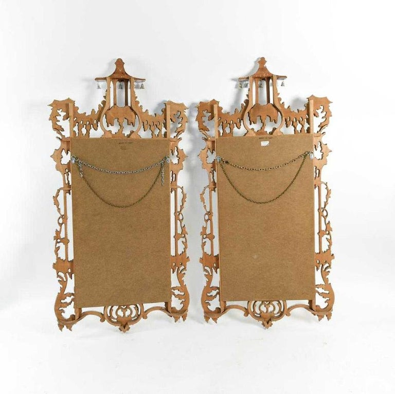 Vintage Chinese Chippendale Style Mirrors, Sold Singly For Sale 7