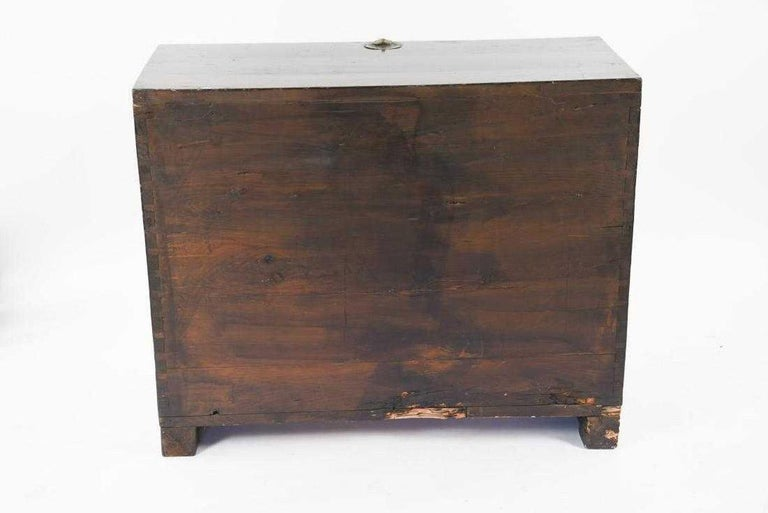 Antique Korean Tansu Elm Wood Chest with Brass Trim For Sale 2