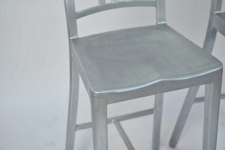 American Three Emeco Bar Stools For Sale