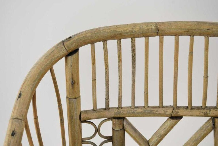 20th Century Pair of Brighton Pavilion Style Bamboo Armchairs For Sale
