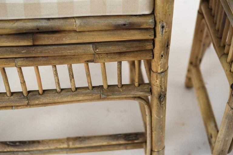 Pair of Brighton Pavilion Style Bamboo Armchairs For Sale 5