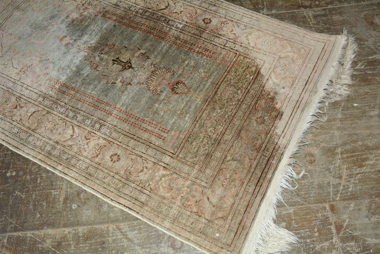 Unknown Antique Wool Oriental Scatter Rug For Sale