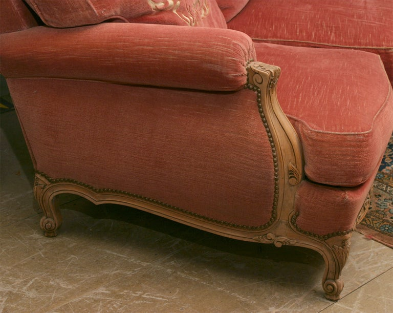 French Louis XV Style Provincial Sofa For Sale
