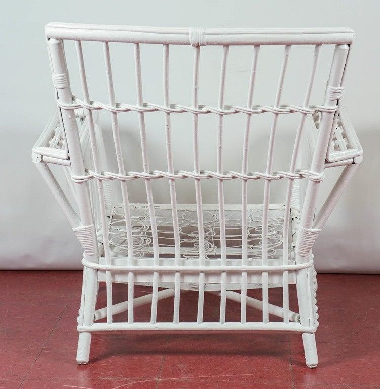 Antique Stick Wicker Armchair 4