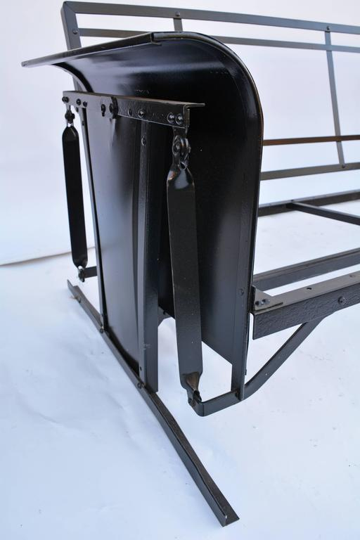 Vintage Black Iron Porch Glider For Sale At 1stdibs