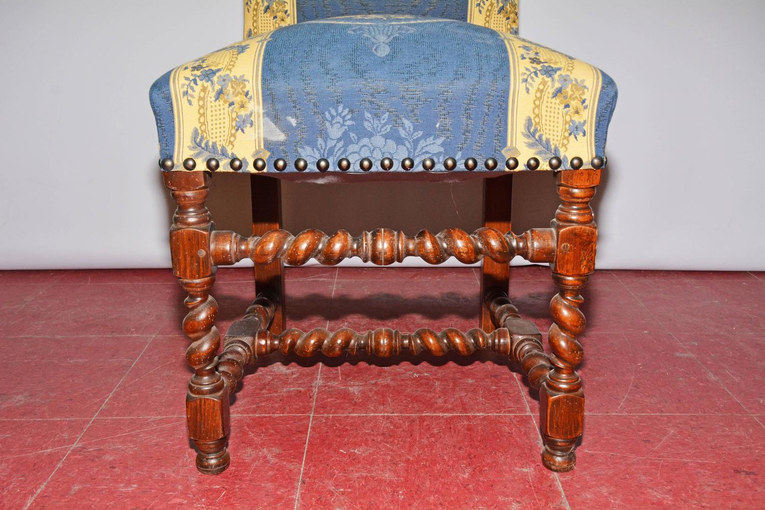 Four jacobean style upholstered dining chairs for sale at for Upholstered dining chairs for sale