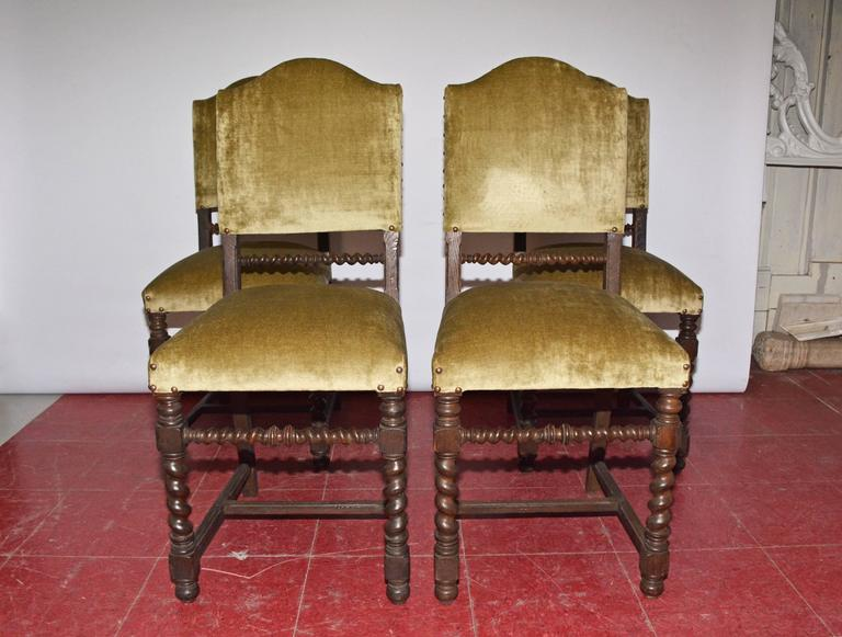 Four Antique Jacobean-Style Dining Chairs For Sale At 1stdibs