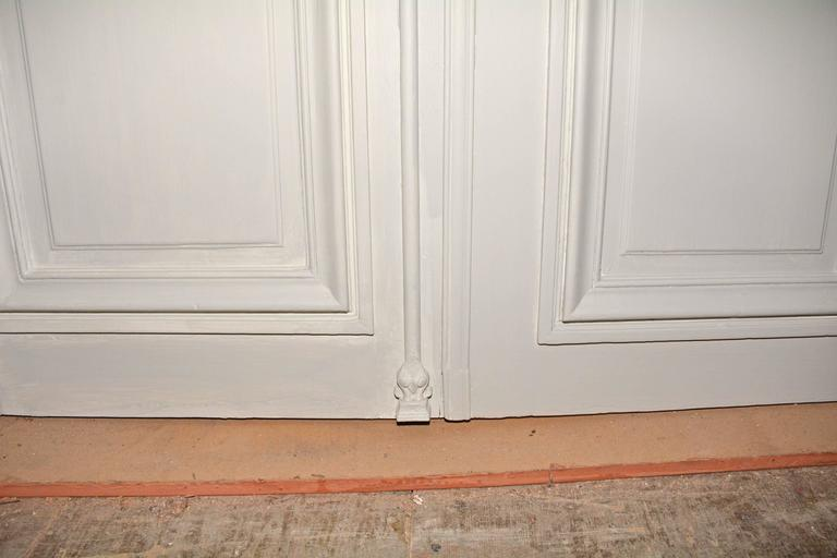 Painted Antique French Double Interior Doors For Sale