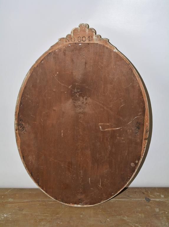 British 19th Century Oval Painted Mirror For Sale